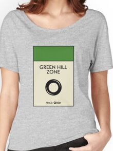 Green Hill Zone Monopoly (Sonic the Hedgehog) Women's Relaxed Fit T-Shirt