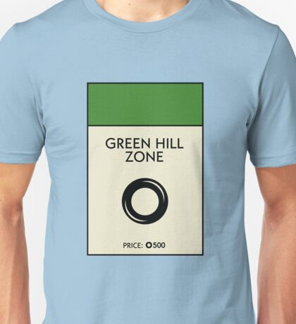 Green Hill Zone Monopoly (Sonic the Hedgehog) T-Shirt