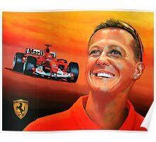 Michael Schumacher painting Poster