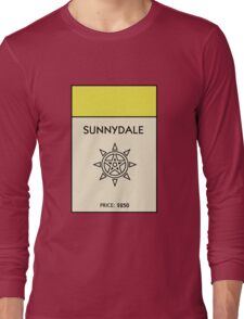 Sunnydale Monopoly (Buffy the Vampire Slayer) Long Sleeve T-Shirt