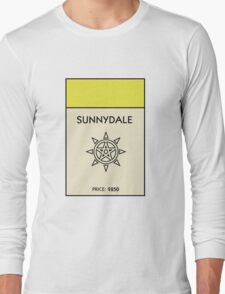 Sunnydale Monopoly (Buffy the Vampire Slayer) Long Sleeve T-Shirt