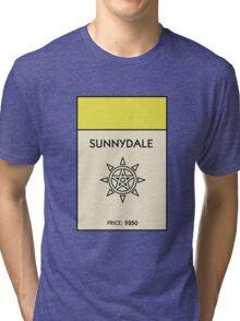 Sunnydale Monopoly (Buffy the Vampire Slayer) Tri-blend T-Shirt