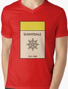 Sunnydale Monopoly (Buffy the Vampire Slayer) Mens V-Neck T-Shirt