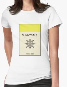 Sunnydale Monopoly (Buffy the Vampire Slayer) Womens Fitted T-Shirt