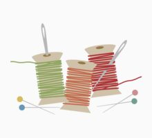 Colorful spools of thread pins needles sewing 2 Kids Clothes