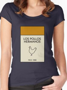 Los Pollos Hermanos Monopoly (Breaking Bad) Women's Fitted Scoop T-Shirt
