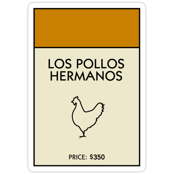 Los Pollos Hermanos Monopoly (Breaking Bad) by WalnutSoap