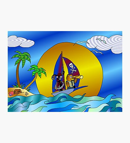 Pirate Friends Photographic Print