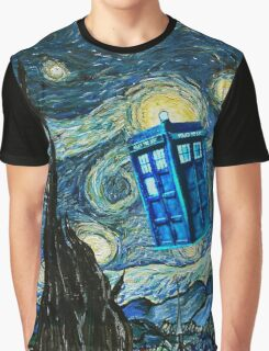 British Blue phone box painting Graphic T-Shirt
