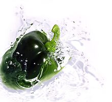 Fresh Green Pepper by Anthony  Poynton
