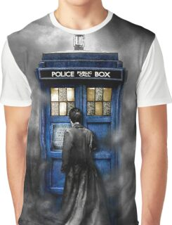 Mysterious Time traveller with Black suit Graphic T-Shirt