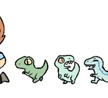 Chris and His Dinosaurs by erinaugusta