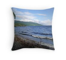 Loch Ness Shoreline Throw Pillow
