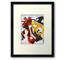 Touhou Poster 1 : Reimu and Marisa Framed Print
