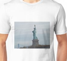Historic Statue of Liberty, Liberty Island, View from Liberty State Park, New Jersey  Unisex T-Shirt