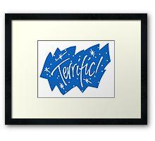 90s Terrific Graphic Design Framed Print