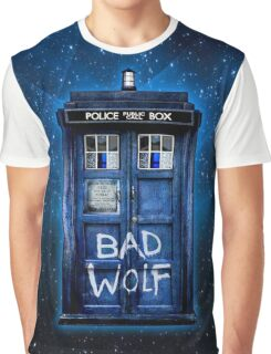 Space And Time traveller Wolf Graphic T-Shirt