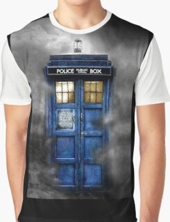 Haunted blue phone booth Graphic T-Shirt
