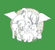 Enchanted Animals One Piece - Short Sleeve