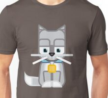 Cute Kitty Cat Grey Silver Unisex T-Shirt