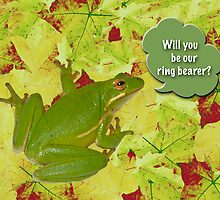 Ring Bearer Request - Green Tree Frog by MotherNature