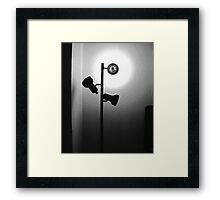 Cheap Motel Lighting Framed Print