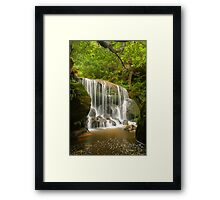 Blue Mountains waterfall Framed Print