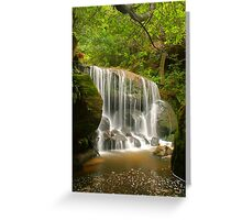 Blue Mountains waterfall Greeting Card