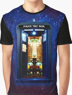 Space And Time traveller Box that More Bigger on the inside Graphic T-Shirt