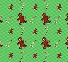 Gingerbread Men & Candy Cane Pattern by runninragged
