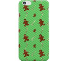 Gingerbread Men & Candy Cane Pattern iPhone Case/Skin