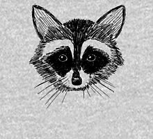 Raccoon Face on Grey T-Shirt