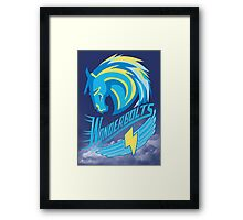 Wonderbolt Sports Framed Print