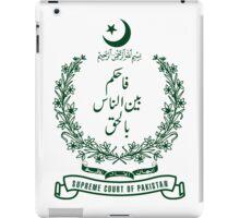 Emblem of Supreme Court of Pakistan iPad Case/Skin