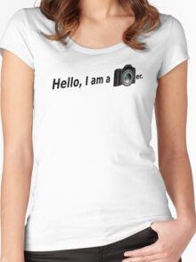 Hello There is a Photographer in the House! Women's Fitted Scoop T-Shirt