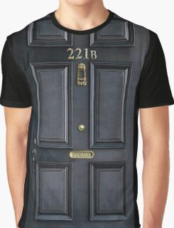 Black Door with 221b number Graphic T-Shirt