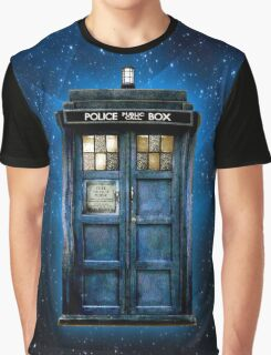 Space And Time traveller Box With yellow stained glass Graphic T-Shirt