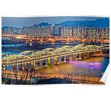 Hangang bridge, Seoul Poster