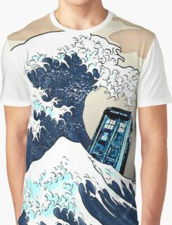 Space And Time traveller Box Vs The great wave Graphic T-Shirt