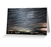Startrails - Roggosen - Germany Greeting Card