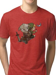 Skyim-Legend of Zelda Tri-blend T-Shirt