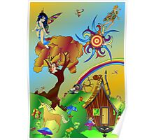 Faerieland with Blue Skies Poster
