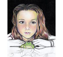 Kiki and the frog - colourised Photographic Print
