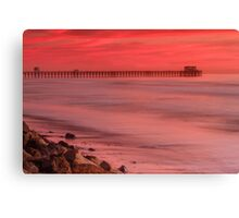 Oceanside Pier at Sunset Canvas Print