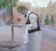 French Waiter by Tash  Luedi Art