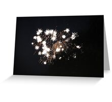 """Fire Works 3""  by Carter L. Shepard Greeting Card"
