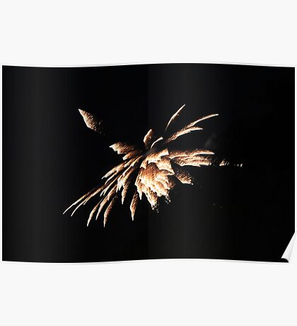"""""""Fire Works 4""""  by Carter L. Shepard Poster"""