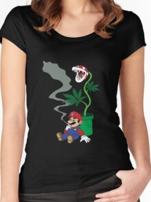 Super Pothead Mario Women's Fitted Scoop T-Shirt