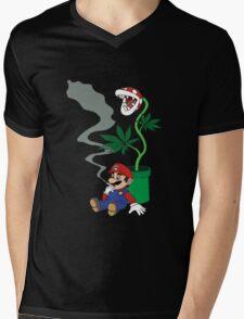 Super Pothead Mario Mens V-Neck T-Shirt