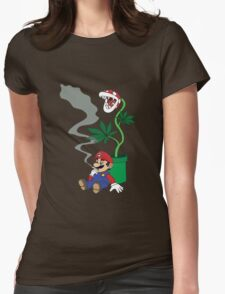 Super Pothead Mario Womens Fitted T-Shirt